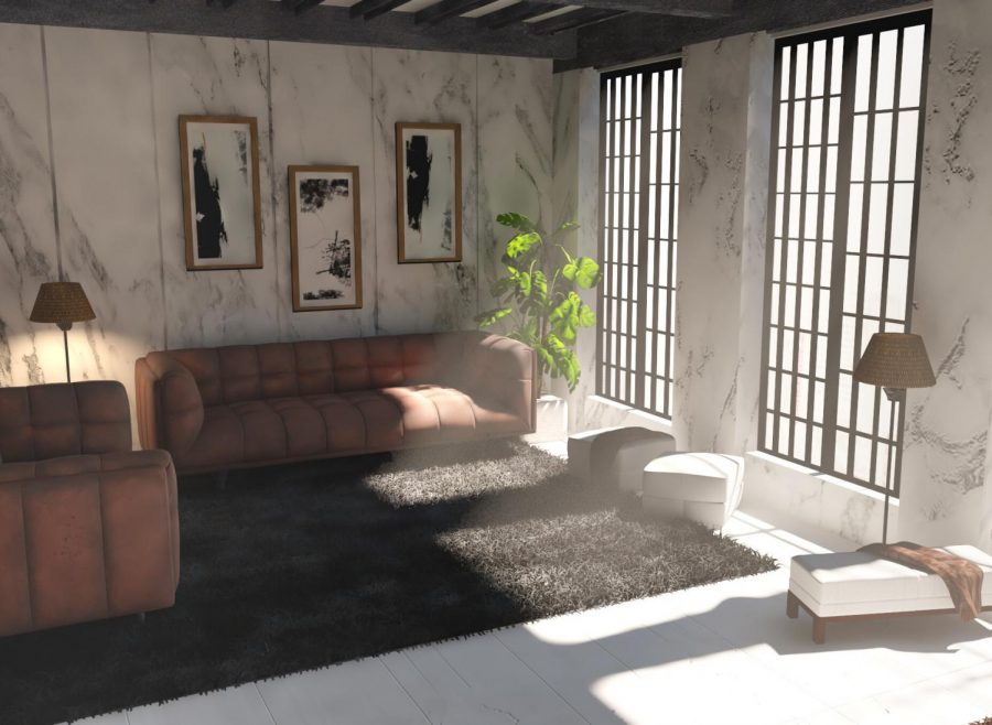 This photo is actually a 3d render. Unfortunately this house does not exist but by learning how to 3d model you can create rooms like this too!