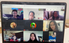SDA's Model UN Nation gathers on a Google Meets call to discuss upcoming plans for a virtual conference