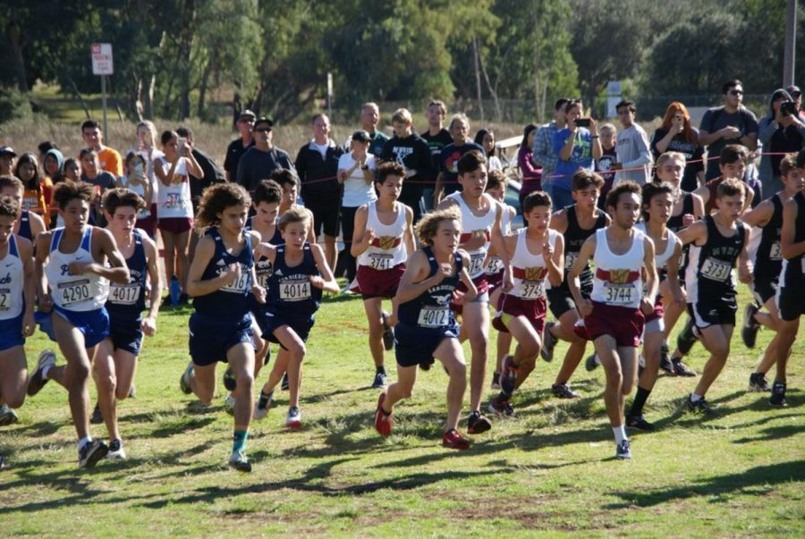SDA+Cross+Country+runners+race+at+CIF+Section+Finals+last+November