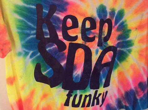 "The classic tie dye ""Keep SDA Funky"""
