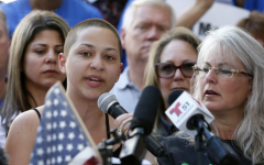 Emma Gonzalez speaking at a gun control rally on Feb. 17, 2018