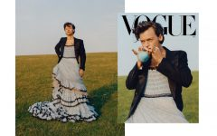 Harry Styles appears in a dress on U.S. Vogue Dec 2020 issue