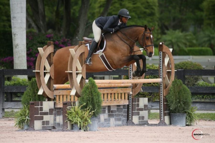 Jordan Allen and her horse Chevito