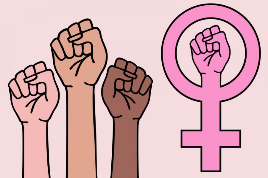 Feminism Sign Stock