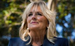 Dr. Jill Biden speaks to reporters during a campaign event  in St. Petersburg, Fla., on Nov. 3.