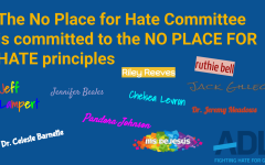 The No Place for Hate Committee signs the pledge