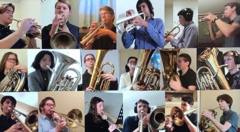 """Wind I Saxophone Ensemble plays """"Allegro"""" for the virtual winter concert on Jan. 28, 2021"""