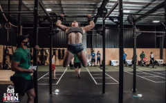 Bianca Miller doing a kipping-pull up for the pit fitness ranch elite teen throwdown on Sep 3, 2020, through Sep 6, 2020