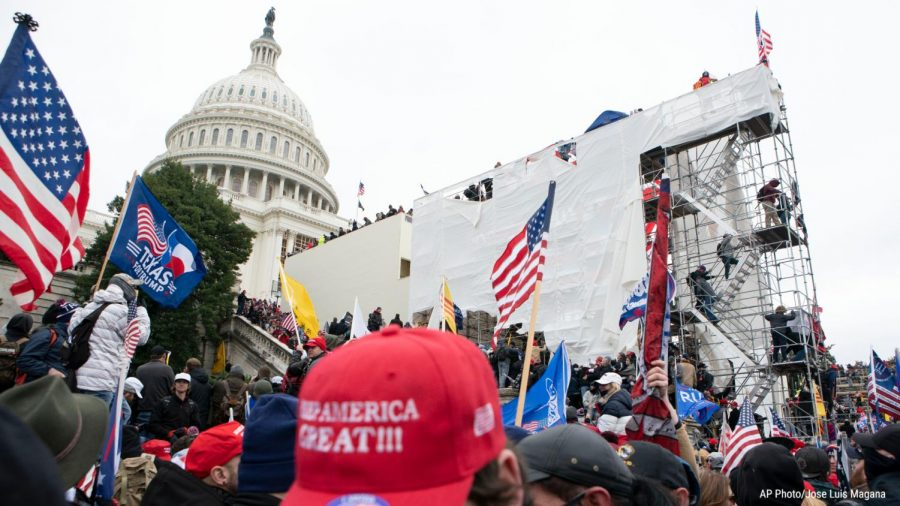 Pro-Trump protesters rioted at the US Capitol in protest of election results in United States Capitol on Jan. 6, 2020