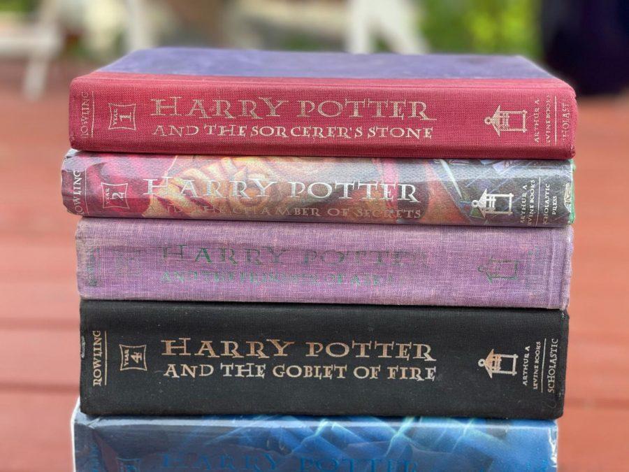 Kaya Simcoes treasured collection of Harry Potter books