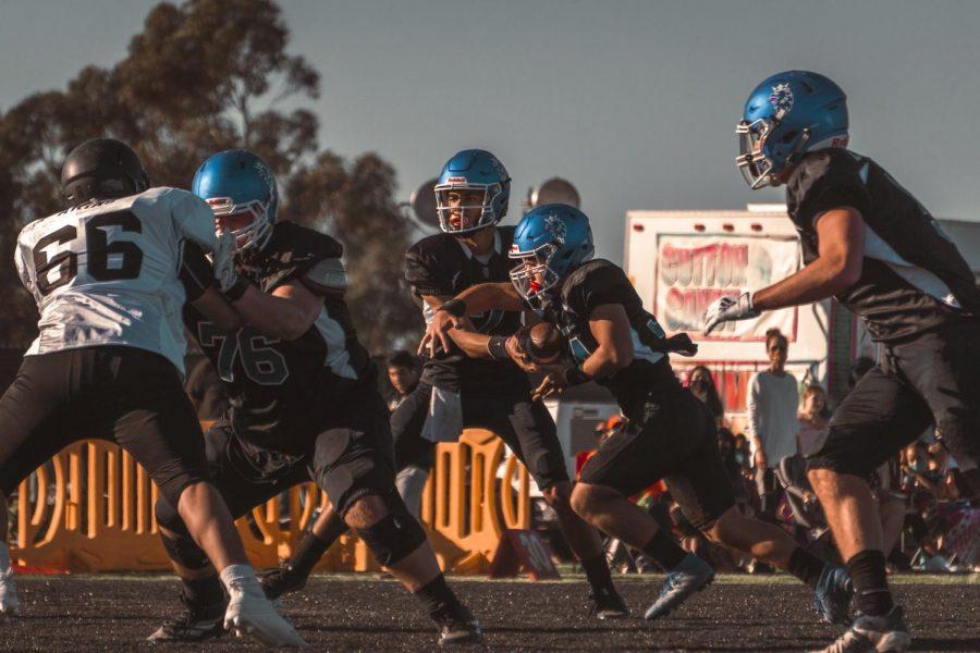 Group of boys playing football