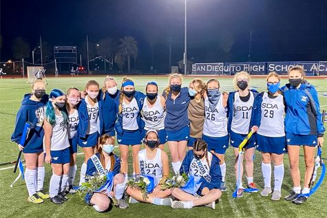 SDA Field Hockey is all smiles on senior night after a 9-0 win against Escondido on March 18