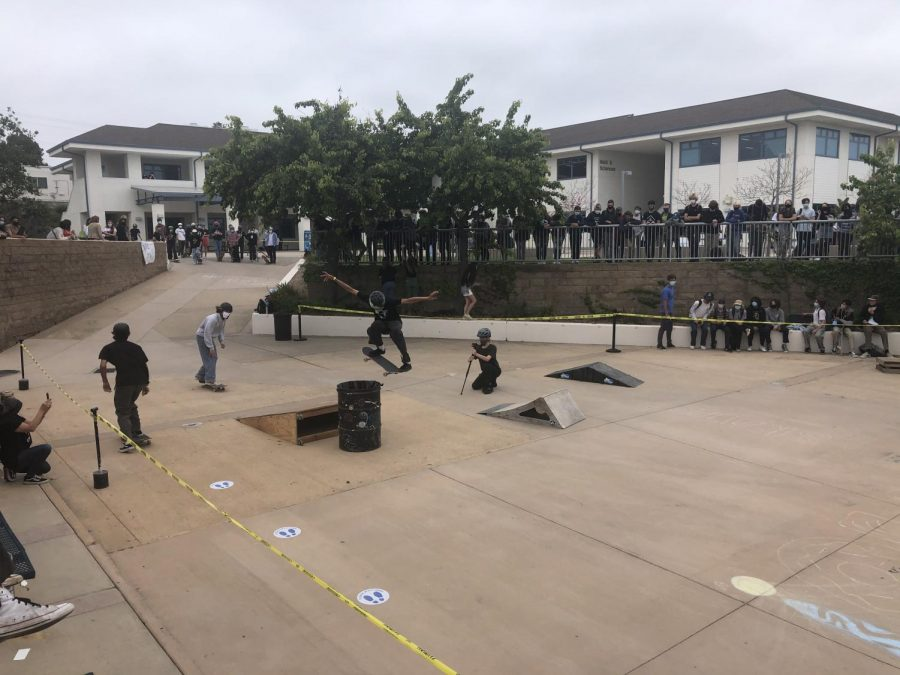 ramps and people scattered around the san dieguito quad