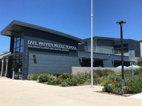 photo of the earl warren middle school building