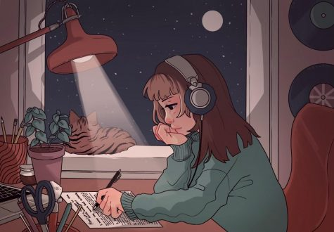 girl studying lofi