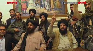Press conference held by Taliban officials over Sharia law. Courtesy of The Associated Press