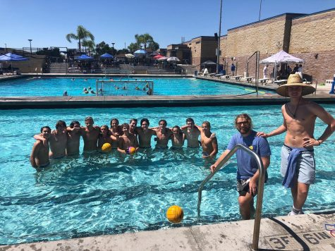 SDA Boys Water Polo celebrates after a victory at the Thrills in the Hills Tournament