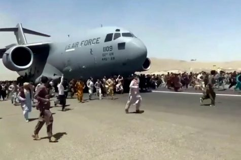 Conflict at the Kabul airport in Afghanistan.