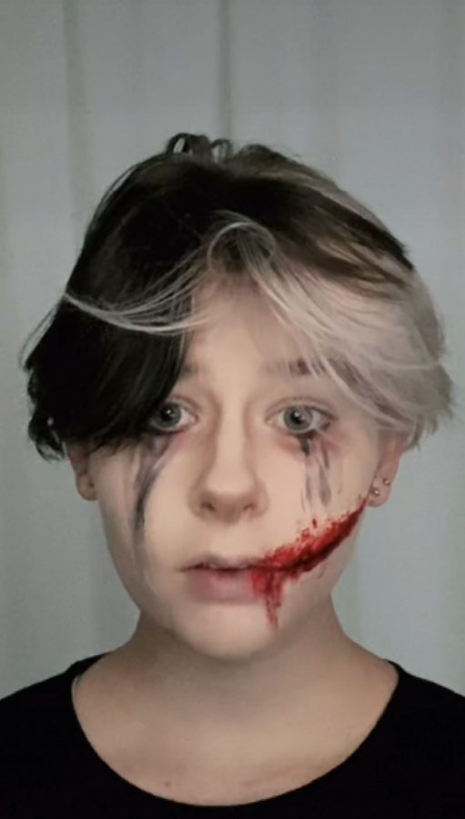 My first attempt at gore makeup