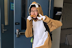 Conan Lee, sophomore, wears a snazzy onesie for pajama day.